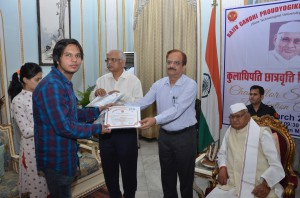 Abhijeet Shukla Recieved certificate of Merit for Chancellor Scholarship (2)